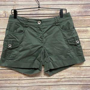 White House black market olive green shorts